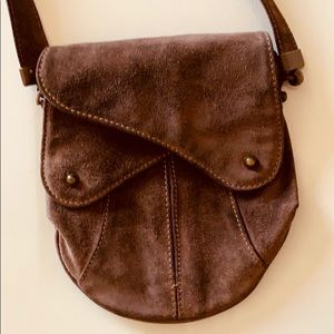 Sissi Rossi Evening purse. Dark brown suede.